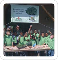 Schoolchildren learn about vegetable gardening and healthy living at the NY Botanical Gardens