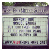 West End Middle School School Garden