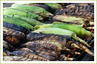 grilled corn fresh from the garden
